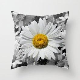 Cheerful Daisy Flower A197 Throw Pillow