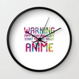 May Spontaneously Start Talking About Anime Fan Wall Clock