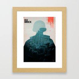 Paths of Glory, Stanley Kubrick, movie poster, Kirk Douglas, Orizzonti di Gloria, WWI war movie Framed Art Print