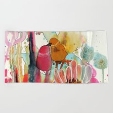 cheek to cheek Beach Towel
