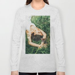 Jungle Vacay #painting #portrait Long Sleeve T-shirt