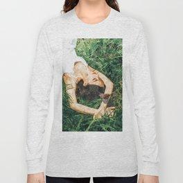 Jungle Vacay #painting #portrait Long Sleeve T-shirt