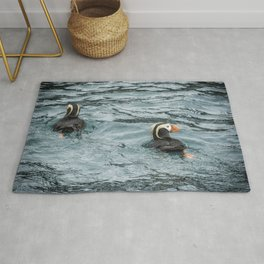 Tufted Puffin Pair Rug