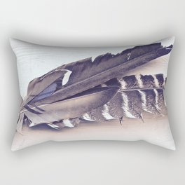 Sacred Smudging, Feather Fan Rectangular Pillow