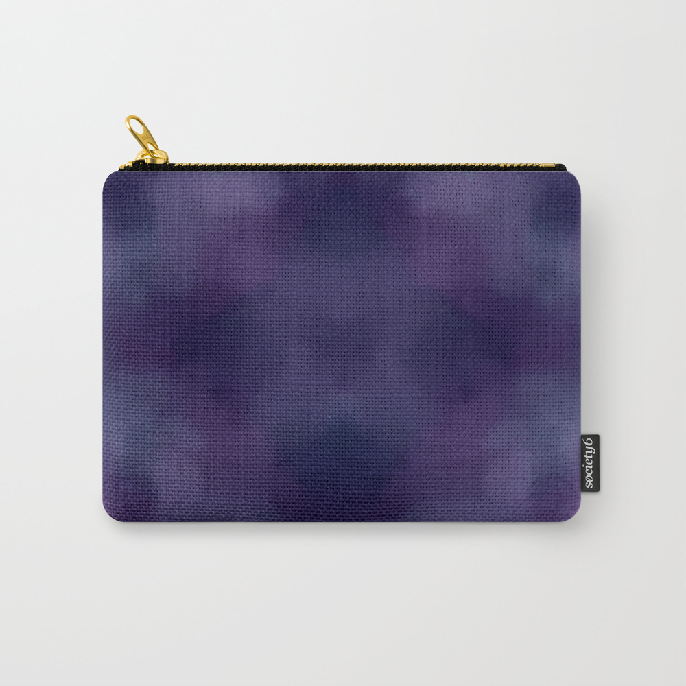 Deep Violet Tie Dye Carry-all Pouch by Hopelessdreamer CAP8385970
