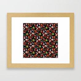 Christmas Dogs and Christmas Trees Framed Art Print