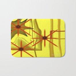 Three Stars Abstract Art by Saribelle Rodriguez Bath Mat