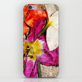 Fleurs vintages iPhone Skin
