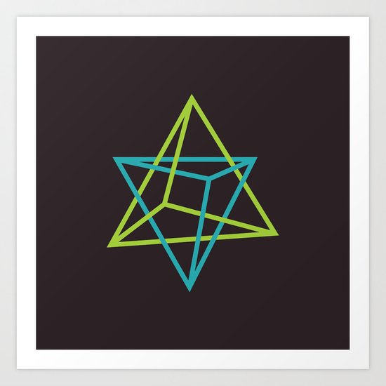 I: Tetraedro Art Print