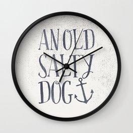 An Old Salty Dog Wall Clock