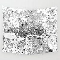 london map Wall Tapestries featuring LONDON MAP by Maps Factory
