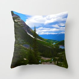 Looking over lower Geraldine Lakes in Jasper National Park, Canada Throw Pillow