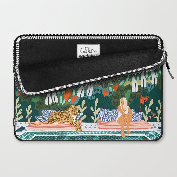 Chilling || #illustration #painting Laptop Sleeve