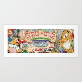 Circus Bus Ad Art Print