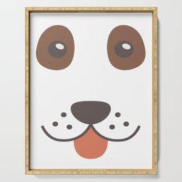 Dog Emoji Cute Bloodhound Serving Tray