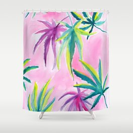 Mary J 420 Leaves Shower Curtain