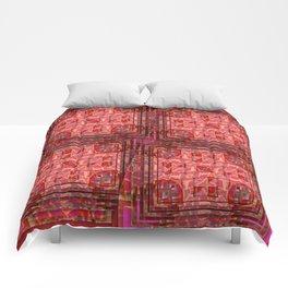 no. 197 orange pink pattern Comforters