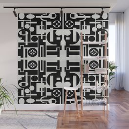 Black and White Design Wall Mural
