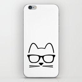 Cat Nerd iPhone Skin