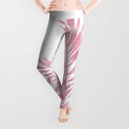 Palm Leaves Pink Leggings