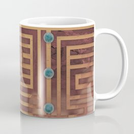 Plinth - Rust colored geometric decorative design Coffee Mug