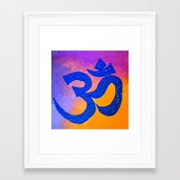 ohm Framed Art Prints featuring Ohm by KD Ives