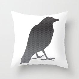 Old Crow Throw Pillow