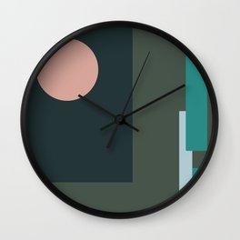 Millennial Green Abstract Wall Clock