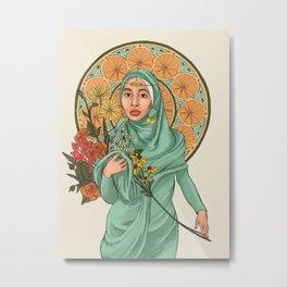 Hijabi Nouveau Metal Print