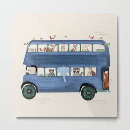 the big blue bus Metal Print