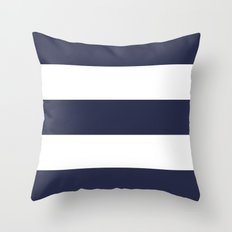 NAVY & WHITE STRIPE Throw Pillow