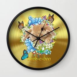 Peek A  Boo Bunny Wall Clock