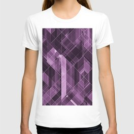 Abstract violet pattern T-shirt