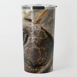 Close Up Side Portrait Of A Turkish Tortoise Travel Mug