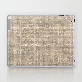 Beige Taupe Brown Jute Burlap Textile Pattern Laptop & iPad Skin