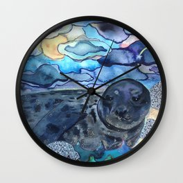 Cliffnote the Baby Harbor Seal Wall Clock