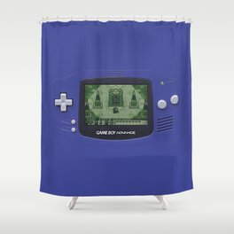 Classic Gameboy Zelda Link Shower Curtain
