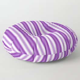 Purple and White Stripes Floor Pillow