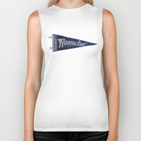ravenclaw Biker Tanks featuring Ravenclaw 1948 Vintage Pennant by Andy Pitts