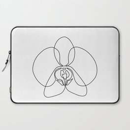 One-Line Orchid Laptop Sleeve