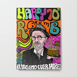Legendary cartoonist R. Crumb  Metal Print