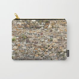 Stone Wall With Weeds Carry-All Pouch