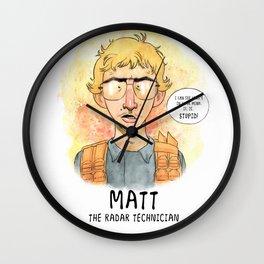 Matt the Radar Technician Wall Clock