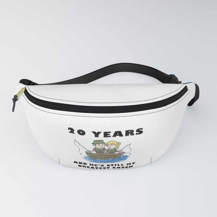 Anniversary 20 Couple Fishing Wife Husband Gift Fanny Pack