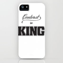 Contrast Is King on White iPhone Case