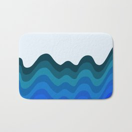 Retro Ripple Sea Wave Bath Mat