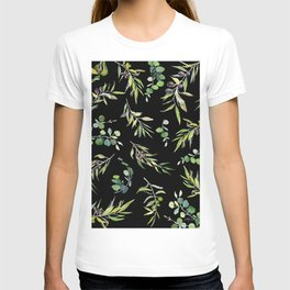 Eucalyptus and Olive Pattern  T-shirt