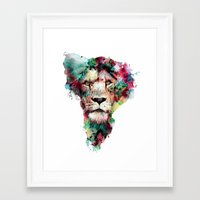 king Framed Art Prints featuring THE KING by RIZA PEKER