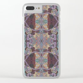 Tibetan Inspired Meditation Floral Print Clear iPhone Case