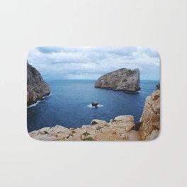 Sardinia Island Italy - Mesozoic Limestone Boulders Bath Mat